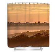 Early Morning Mist, Bradworthy, North Shower Curtain