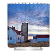 Early Morning On The Farm Shower Curtain