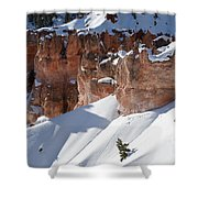 Early Morning Snow In Bryce Canyon Shower Curtain