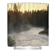 Early Morning View Of Crescent Creek Shower Curtain