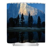 Early Morning View Of El Capitan Shower Curtain