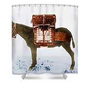 Early Radio Equipment, U.s. Army Signal Shower Curtain