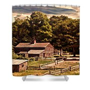 Early Settlers Shower Curtain by Lourry Legarde