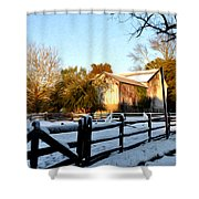 Early Snow Day Shower Curtain
