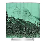 Early Snow In The Mountains  Shower Curtain
