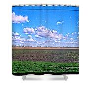 Early Spring Farmland Shower Curtain