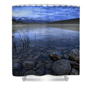 Early Summer Morning On Patricia Lake Shower Curtain