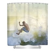 Early Surfer Shower Curtain