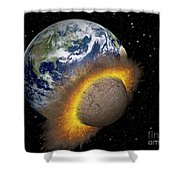 Earth Colliding With A Mars-sized Shower Curtain
