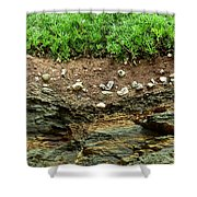 Earth Cross Section Shower Curtain