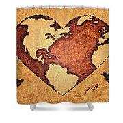 Earth Day Gaia Celebration Digital Art Shower Curtain