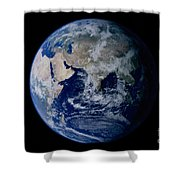 Earth From Space Showing Eastern Shower Curtain