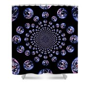 Earth Pattern Shower Curtain
