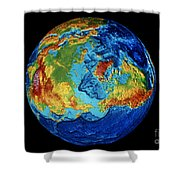 Earth: Topography Shower Curtain