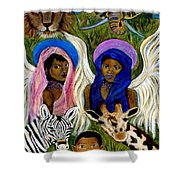 Earthangels Abeni And Adesina From Africa Shower Curtain