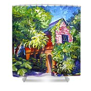East Bay House In Charleston  Shower Curtain