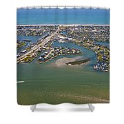 East Coast Aerial Shower Curtain
