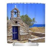east coast Naxos Shower Curtain