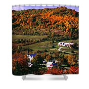 East Orange Village In Fall, Vermont Shower Curtain