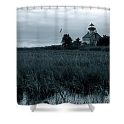 East Point Light Before The Storm  Shower Curtain