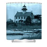 East Point Light In The Clouds Shower Curtain