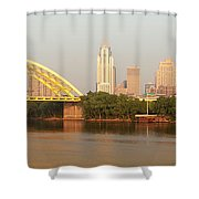 East Side Pano Shower Curtain