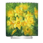 Easter Daffodils Shower Curtain