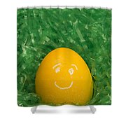 Easter Egg Yellow 3 Smile Shower Curtain