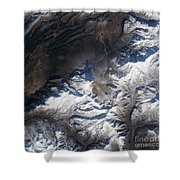 Eastern Russias Kizimen Volcano Shower Curtain