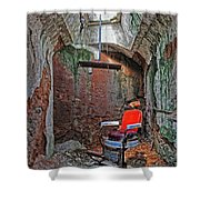 Eastern State Penitentiary Barber Shop Shower Curtain