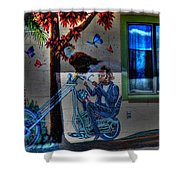 Easy Rider Mural Route 66 Shower Curtain