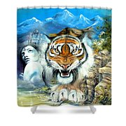 Easy Tiger Shower Curtain