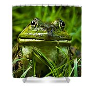 Easy To Be Green Shower Curtain