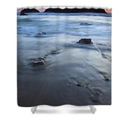 Ebb Stones Shower Curtain