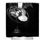 Ebony Wind Shower Curtain