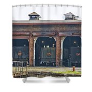 Ebt Roundhouse Closeup Shower Curtain