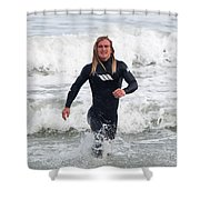 Echoes Of Baywatch Shower Curtain