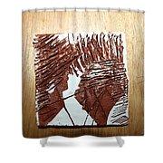 Ed And Ezra - Tile Shower Curtain