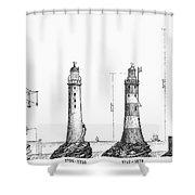 Eddystone Lighthouse Shower Curtain