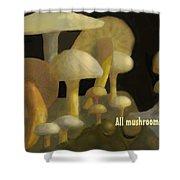 Edible Mushrooms Shower Curtain