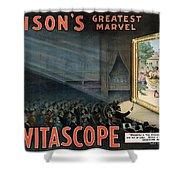 Edisons Vitascope, 1896 Shower Curtain