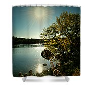 Eds River Valley. Shower Curtain