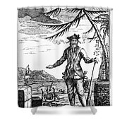 Edward Teach (?-1718) Shower Curtain by Granger