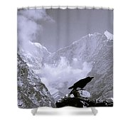 Eerie Himalayas Shower Curtain