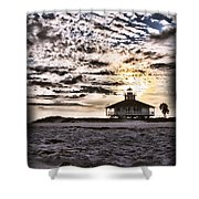 Eerie Lighthouse Shower Curtain