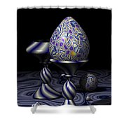 Egg And Goblet Shower Curtain
