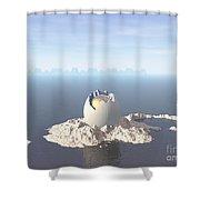 Egg Island Shower Curtain