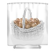 Eggs In A Woven Basket No.0064 Shower Curtain