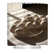 Eggs Lit Through Venetian Blinds Shower Curtain
