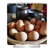 Eggs On The Table Shower Curtain